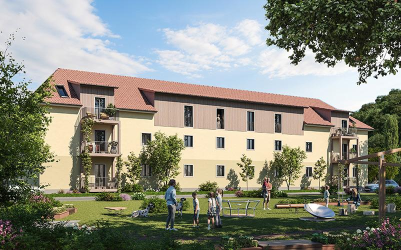 Hof von Generationen Wohnen Thörl_ÖKO-Wohnbau